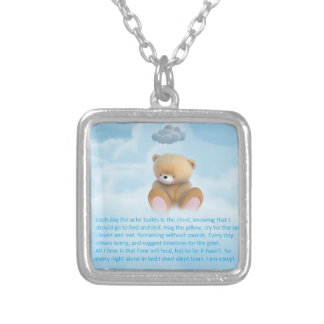 EACH DAY WITHOUT YOU SILVER PLATED NECKLACE