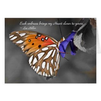 Each embrace brings my Heart... Greeting Card