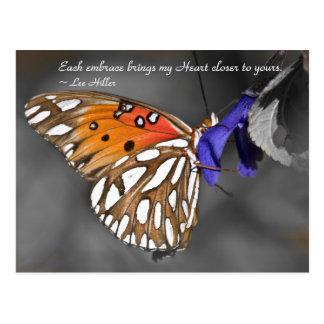 Each embrace brings my Heart... Postcard