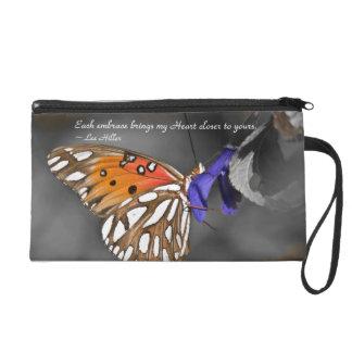 Each embrace brings my Heart... Wristlet Purse Bag