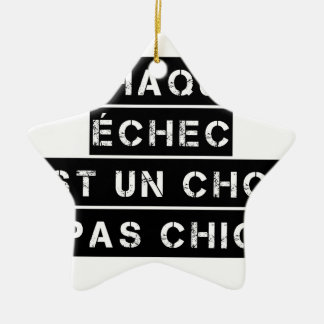 EACH FAILURE is a SHOCK not SMART Ceramic Ornament