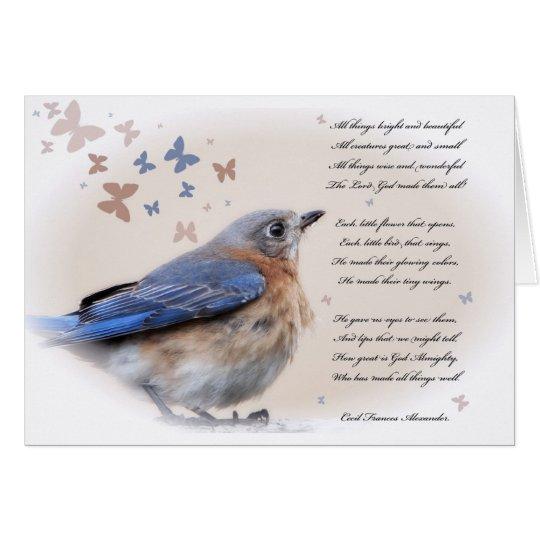Each little bird that sings card