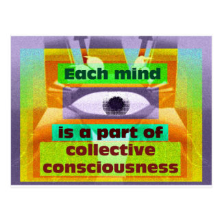 Each mind is a part of collective consciousness postcard