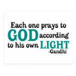 Each One Prays To God According To His Own Light Postcards