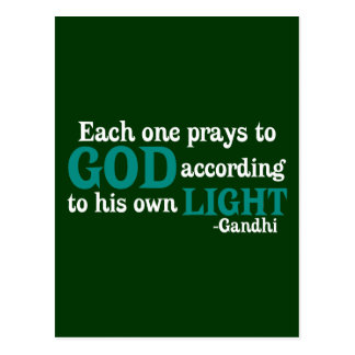 Each One Prays To God According To His Own Light Postcard