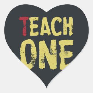 Each one teach one heart sticker