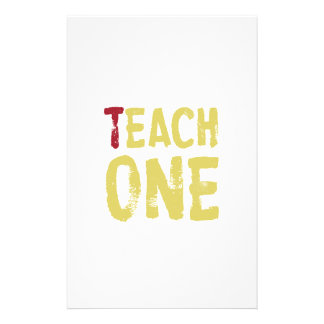 Each one teach one stationery