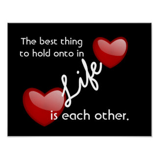 Each Other - love quote - print