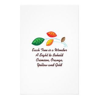 EACH TREE IS A WONDER CUSTOM STATIONERY