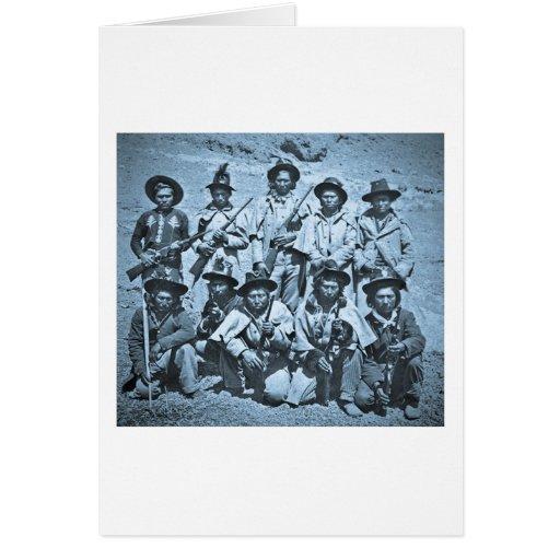 Eadweard J. Muybridge image of Modoc Indians Card
