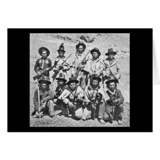 Eadweard J. Muybridge image of Modoc Indians Greeting Card