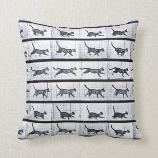 EADWEARD MUYBRIDGE: Cat Walking Gallop Cushion