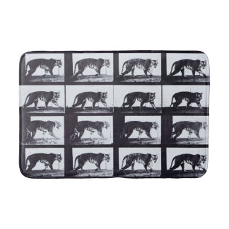 EADWEARD MUYBRIDGE: Tigress Walking - Bath Mat