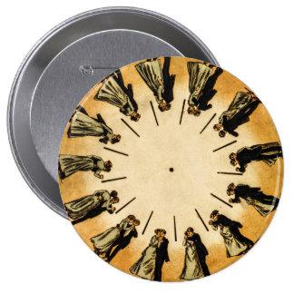 Eadweard Muybridge's phenakistoscope, 1893 4 Inch Round Button