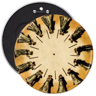Eadweard Muybridge's phenakistoscope, 1893 6 Inch Round Button