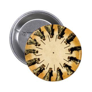 Eadweard Muybridge's phenakistoscope, 1893 2 Inch Round Button