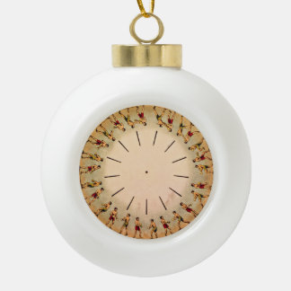 Eadweard Muybridge's phenakistoscope, 1893 Ceramic Ball Christmas Ornament
