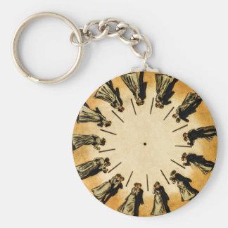 Eadweard Muybridge's phenakistoscope, 1893 Basic Round Button Keychain