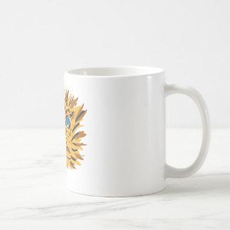 eager eyes shining in dark coffee mug