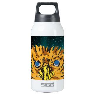eager eyes shining in dark insulated water bottle