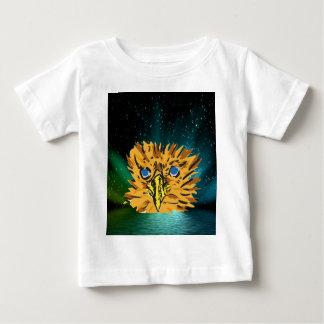 eager eyes shining in dark t-shirt