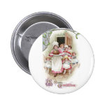 Eager for Plum Pudding Vintage Christmas Pin