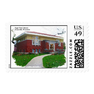 Eager Free Library Evansville Wisconsin Stamp
