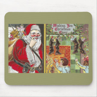 Eager Kids Almost Catch Santa on Xmas Morning Mouse Pad