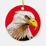 Eagle Adorno Redondo De Cerámica