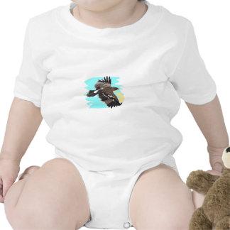 EAGLE AGAINST SKY BABY BODYSUIT