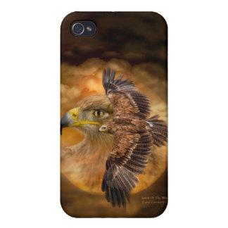 Eagle-Alcohol del caso del arte del viento para el iPhone 4/4S Fundas