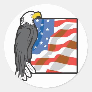 Eagle America Classic Round Sticker