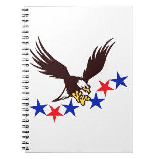 EAGLE AMERICAN FLAG NOTE BOOK