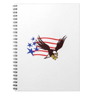 EAGLE AMERICAN FLAG SPIRAL NOTE BOOKS