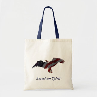 Eagle & American Flag Tote Bags