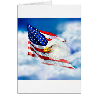 Eagle and American Flag Card
