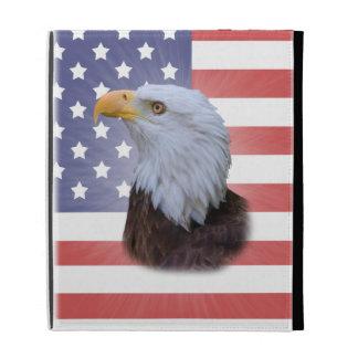 Eagle and American Flag Caseable iPad Folio Case