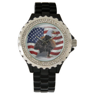 Eagle and American Flag for the Patriot Watches