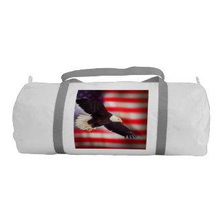 Eagle and American Flag Gym Bag Gym Duffle Bag