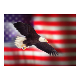 Eagle and American Flag Invitation