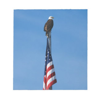 Eagle and American Flag - notepad