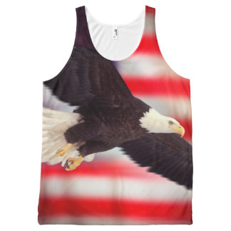 Eagle and American Flag Tank Top All-Over Print Tank Top