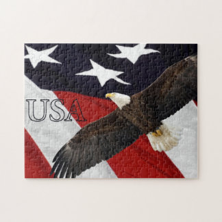 Eagle and American Flag USA Jigsaw Puzzle