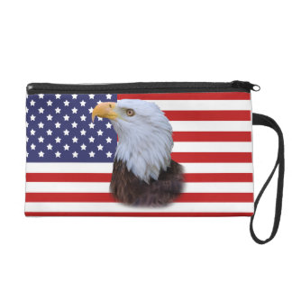 Eagle and American Flag Wristlet