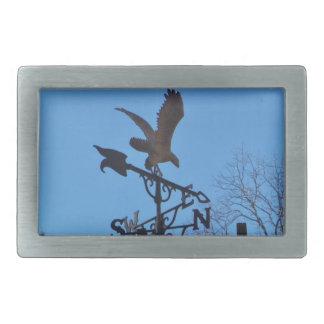 Eagle and Arrow Weather vane blue skys Rectangular Belt Buckle