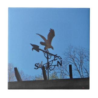 Eagle and Arrow Weather vane blue skys Ceramic Tile