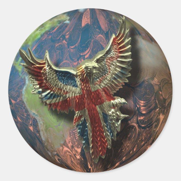Eagle and Earth sticker