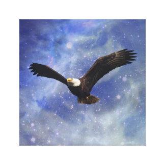 Eagle and fantasy sky canvas print