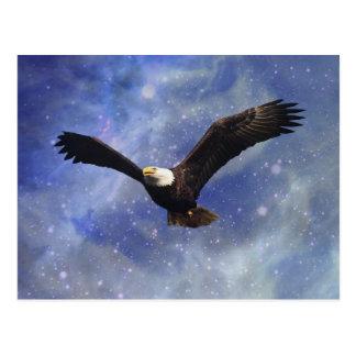 Eagle and fantasy sky postcards