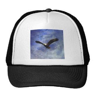 Eagle and fantasy sky trucker hat